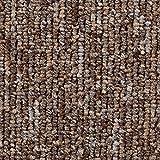 Teppichboden Auslegware | Büro Schlinge gemustert | 400 und 500 cm Breite | braun beige | Meterware, verschiedene Größen | Größe: 3 x 5 m
