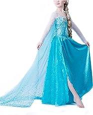 Nice Sport-vestaglia per bambini, motivo: Frozen Disney Frozen-Costume da travestimento carnevale compleanno Elsa ragazza