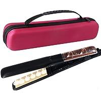 Fer à Lisser Vapeur Plaques en Céramique Avancée Professionne Showliss 6 Trous de Pulvérisation Lisseur Vapeur Cheveux (Black)