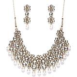 Zaveri Pearls Garden Flower Necklace Set For Women - ZPFK2656