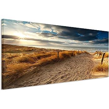 PANORAMA BILD in 150x50cm TOP Bilder! (Sonnenuntergang