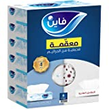 Fine Sterilized Facial Tissues - Pack Of 6 Boxes, 86 Sheets X 2 Ply, White