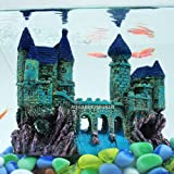 AQUAPETZWORLD Beautiful Aquarium Decoration Ornament Ancient Small Castle Resin Background for Small Fish Tank Aquarium Acces