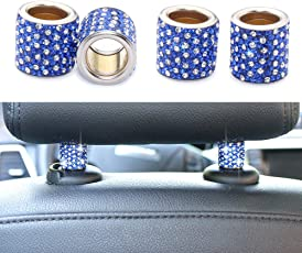 YINUO Universal Chrom Bling Kristall Kopfstütze Kopfstützen Halsbänder Auto Innendekoration Auto Zubehör für Auto LKW SUV Fahrzeug