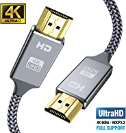 Snowkids 4k Hdmi Kabel 2m,Ultra Highspeed 18Gbit/s Hdmi 2.0 Kabel,Ultra HD 4k 60Hz HDMI 2.0 a/b,1.4a,Video 4k UHD 2160p, 1080
