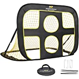 PodiuMax 2 in 1 Pop Up Kids Football Goal - Indoor/Outdoor Soccer Target Net for Improving Passing and Shooting Accuracy…