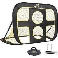 PodiuMax klappbares 2 in 1 Pop-Up Fußballtor für Kinder im Garten | Torwandtrainer für Indoor / Outdoor | Fußballtor…