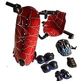 سكوتر دريفت بتصميم عنكبوت سبايدر نيمو بلون احمر، 36 فولت ويحتوي على 3 سرعات