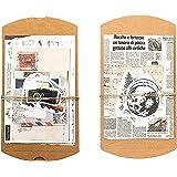 Vintage Scrapbooking DIY Matériel Papier, 60 Pièces Papier Ensemble D'autocollants, Autocollants de Voyage Rétro, Pack D'auto