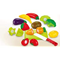 Toyshine Sunshine Realistic Sliceable Fruits and Vegetables Cutting Play Toy Set, 12 Pieces