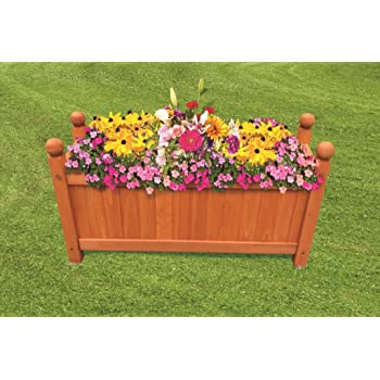 Large Rectangular Outdoor Wooden Garden Planter Plant pot Flower Display Plants