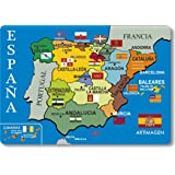 Cartina Tematica Spagna.Artimagen Magnete Mappa Citta Spagna Blu 80 X 55 Mm Amazon It Casa E Cucina