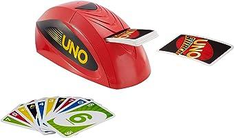 Mattel Games V9364 UNO Extreme Kartenspiel mit Kartenwerfer, geeignet für 2 - 10 Spieler, Spieldauer ca. 15 Minuten, ab 7 Jahren