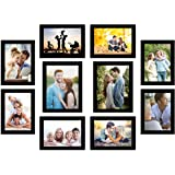 Art Street Photo Frame For Wall Set of 10 Black Picture Frame For Home and Office Decoration Eco Series-Size -5x7 ,6x8 Inches