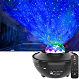 LED Star Projector,OxyLED Roterende Ocean Wave Sterrenhemel Nachtlampje,Kleur Veranderende Muziekspeler met Bluetooth&Timer&A