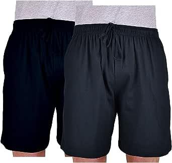 Espionage Big Mens Chico Twin Pack Cotton Lightweight Lounge Wear Jersey Shorts Multipack Sizes 2XL 3XL 4XL 5XL 6XL 7XL 8XL