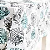 Dreaming Casa Nappe Imperméable de Table Rectangulaire Résistant Nappe Anti-Taches Tissu Oxford Motif Feuilles pour Table à M