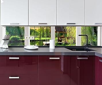 Küchenrückwand Fenster aussicht Deko Design | 260 x 50cm (B x H ...