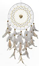 Rooh Dream Catcher ~ I Heart you ~ Handmade Hangings for Positivity (Can be used as Home Décor Accents, Wall Hangings, Garden, Car, Outdoor, Bedroom, Key chain, Meditation Room, Yoga Temple, Windchime)