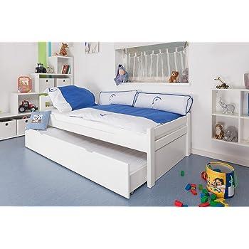 funktionsbett ausziehbar cravog aufklappbar lackiert massivholz doppelt kinderbett stockbett. Black Bedroom Furniture Sets. Home Design Ideas