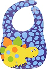 Square Velcro Closure Reusable Waterproof Plastic Bib for Baby Boys and Baby Girls