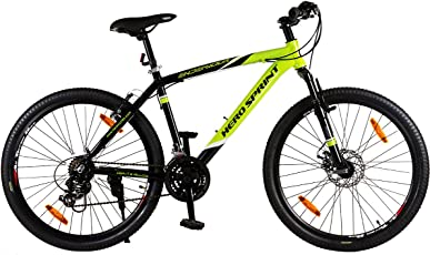 """Hero Octane Endeavour 26T 21 Speed Adult Bicycle - Green & Black(18"""" Frame)"""