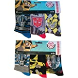 Transformers Robots in Disguise Kids Socks Medias con Autobots Bumblebee, Optimus Prime y Transformer Logo, juego de 6 para n