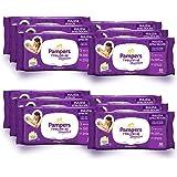 Pampers Sensitive Salviette, Formula Delicata Senza Profumazione, Ripristina il Ph della Pelle, 12 Confezioni da 63 Pezzi, 75
