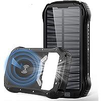 Wireless Solar PowerBank 26800mAh, 20W QC3.0 USB C Power Bank Solar, Schnellladefunktion Solarladegeräte mit 4 Ausgängen…