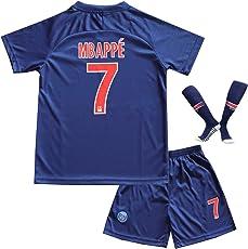 BTA APPAREL 2018/2019 PSG Paris Saint Germain #7 Kylian MBAPPE Heim Kinder Fußball Trikot Hose und Socken