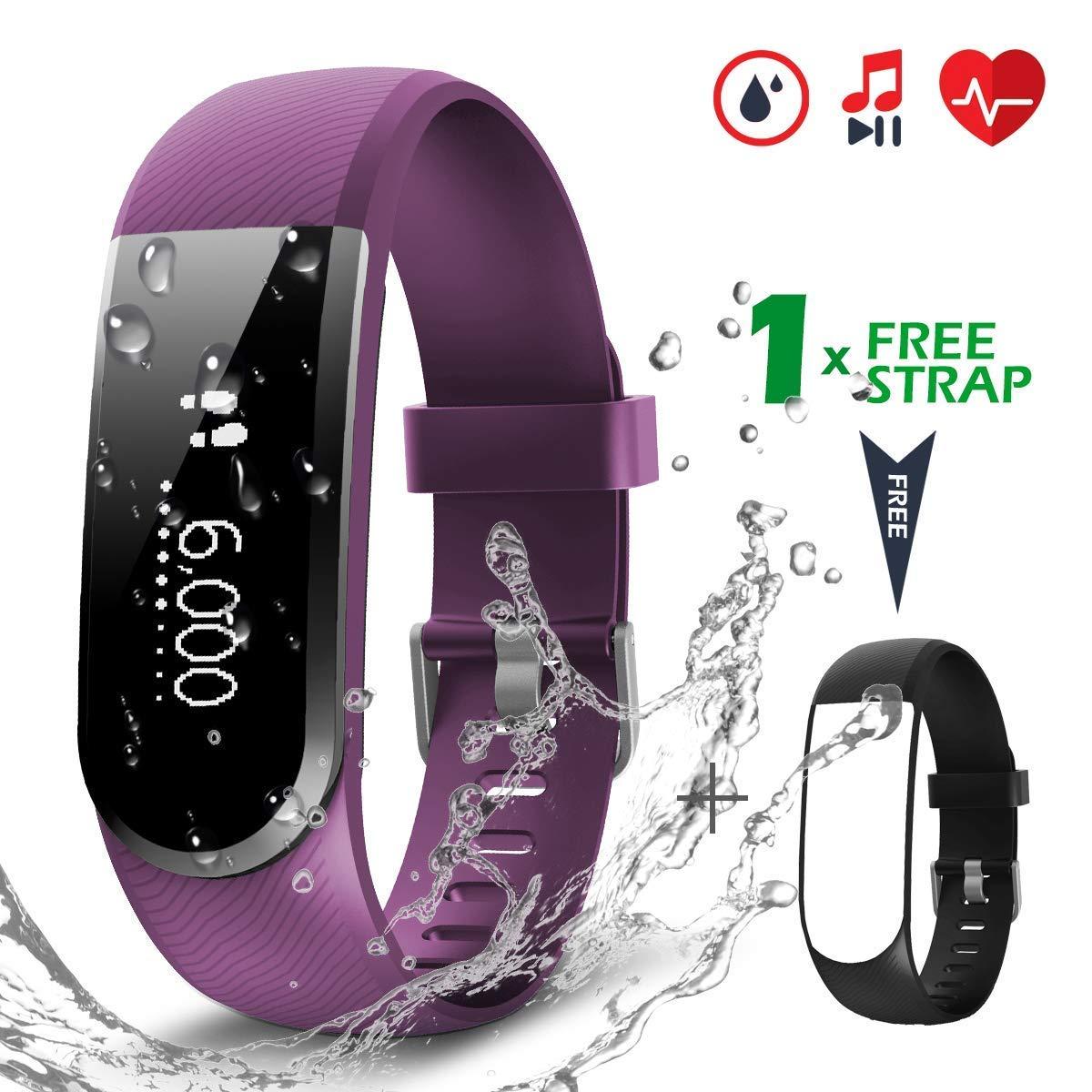 CHEREEKI Pulsera Actividad [versión Mejorada] con Control de frecuencia cardíaca podómetro Monitor, Smartwatch Pulsera… 1