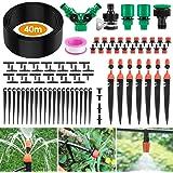 Ehomfy Irrigatieset, 40 m, micro-irrigatiesysteem, verstelbaar, automatische tuinirrigatie, druppelslang voor gazon, planten,