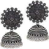Preyans From Jaipur Mart Jhumki Earrings for Women (Silver)(GSE247$P)