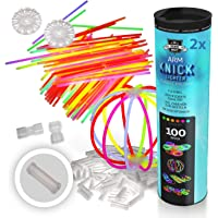 200 bâtons lumineux, bâtons fluorescents, bracelets plus 200 x connecteurs 2D, 4 x connecteurs ronds de qualité…
