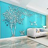 Árbol Pegatinas de Pared 3D Árbol Familia Marco de Fotos DIY Murales Stickers Decoración para Salón, Dormitorio, Oficina, Hab