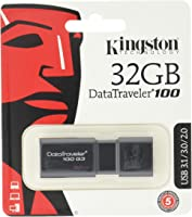Kingston Dt100G3/32Gb, Usb 3 Datatraveler G3 (100Mb/S Read , 10Mb/S Write), 32 Gb