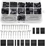 Perfetsell 620 pcs Kit 2.54mm Conectores Electronica Dupont Conectores Dupont Hembra Pin Dupont 1/ 2 / 3 / 4 / 5 / 6 Pin para