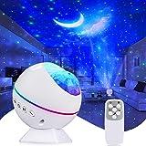 Tobeape LED-sterrenhemel-projectorlamp, oceaangolven Projector-nachtlampje, nachthemellicht, romantische sfeerlamp 360 ° draa