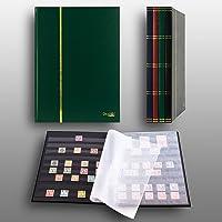 Prophila Lighthouse stamp album (new) 16 black sides, green cover