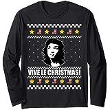 VIVE LE CHRISTMAS Ugly Christmas Sweater Che Alexandria AOC Manche Longue