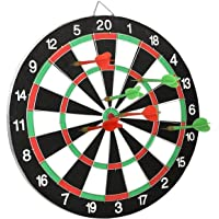 SKYFUN (LABEL) Double Faced Dart Game with 6 Colorful Non Pointed Darts, Fun Gift for Kids, Party(Simple 15 Inch)