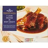 Morrisons 2 Slow Cooked Lamb Shanks in Mint Gravy, 750g (Frozen)