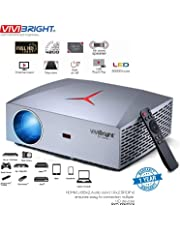 "Projector, VIVIBRIGHT F40 Native 1080P Full HD Projector, 4200Lux 300"" Display Home Theater Projector, HiFi Class Speaker with SPDIF, Compatible with TV Stick, PS4, Xbox, HDMI, SPDIF, USB, AV"