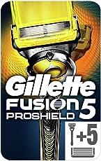 Gillette Fusion Proshield Herrenrasierer mit FlexBall Technologie + 5Ersatz-Klingen