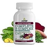 Unived Organic Vitamin B Complex, Whole Food Plant Based Vitamins B1, B2, B3, B6, Folate, B12, Biotin, B5, for Energy…