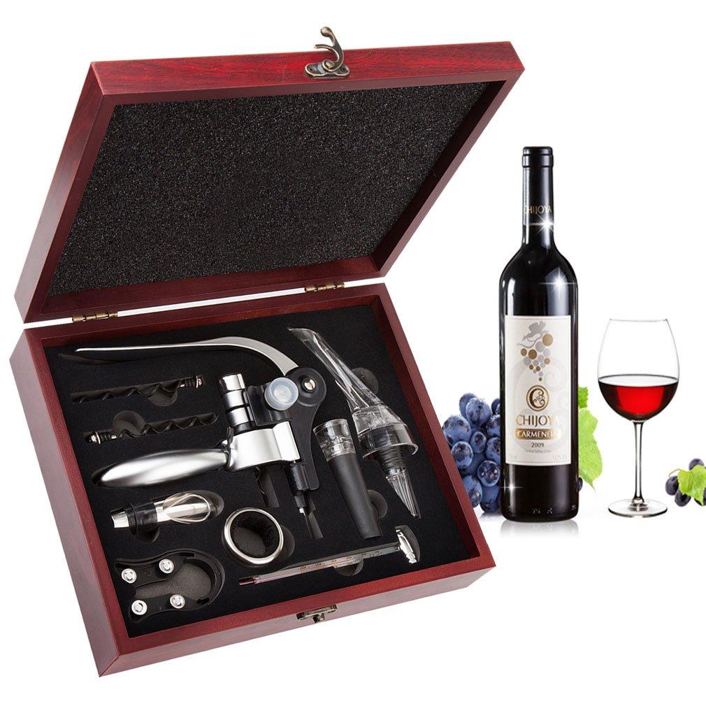 Smaier Abridor de Botellas kit Modelo de Conejo de Accesorios Para el Vino, Sistema Del Regalo Del Vino Con el Caso de Madera