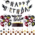 BETOY Cake Topper 37PCS Wizard Ispirato Cupcake Toppers Wizard Mago Decorazioni