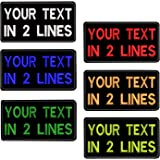 """Custom Embroidery Name Patches 4""""W x 2""""H Personalized Military Number Tag Customized Logo ID for Multiple Clothing Bags Vest"""