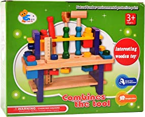 Tokenz Creative Wooden Tool Set Assembly Toy for Kids