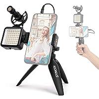SYNCO Vlogger Kit-Microfono-Video-Smartphone-Rig con Treppiede da Tavolo e Faretto LED, Vlog Kit Smartphone con…